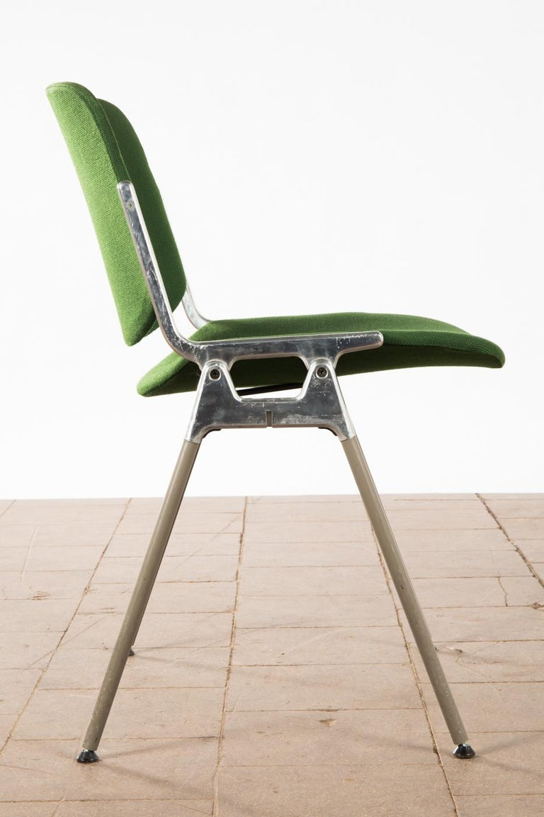 Green Stackable Chairs by Giancarlo Piretti for Castelli For Sale 2