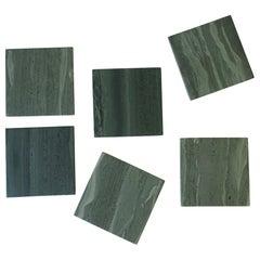 Green Stone Coaster Set