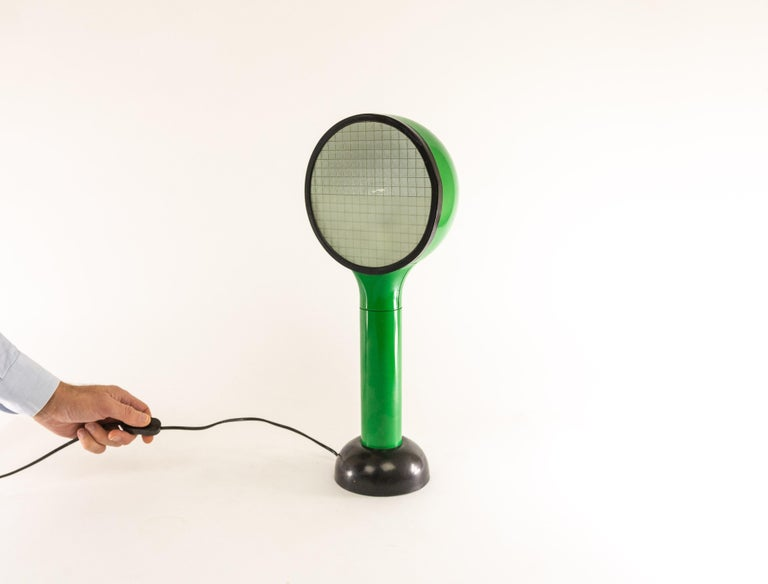 Green Table Lamp Drive by Adalberto Dal Lago & Adam Thiani for Francesconi, 1970 For Sale 5