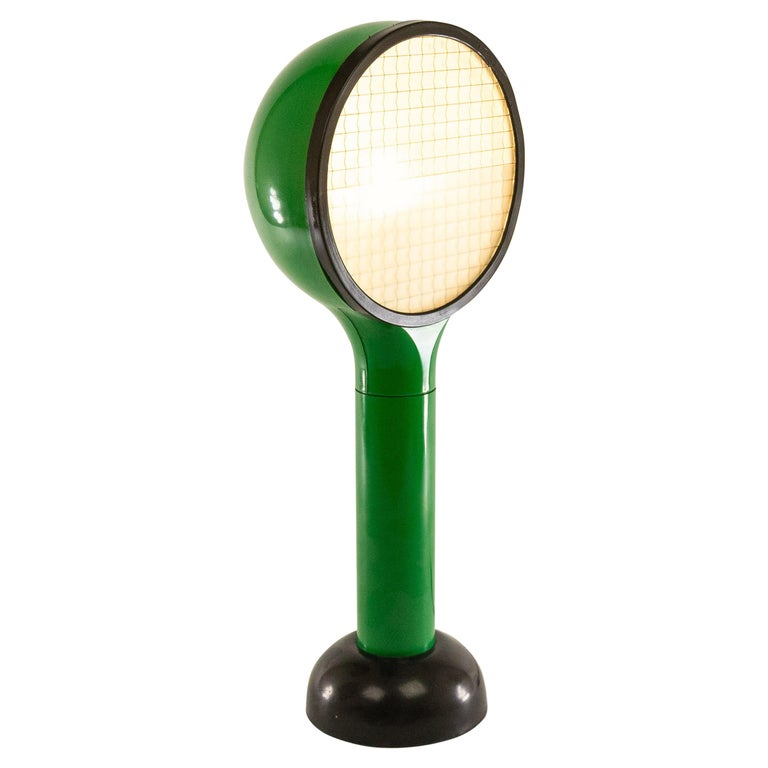 Green Table Lamp Drive by Adalberto Dal Lago & Adam Thiani for Francesconi, 1970 For Sale