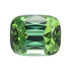 Green Tourmaline Ring Gem 11.23 Carat Cushion Loose Gemstone