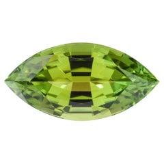 Green Tourmaline Ring Gem 3.02 Carat Unmounted Marquise Loose Gemstone