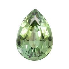Green Tourmaline Ring Gem 5.09 Carat Unmounted Pear Shape Loose Gemstone