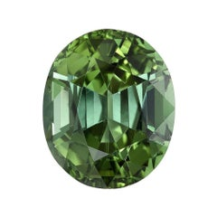 Green Tourmaline Ring Gem 5.49 Carat Oval Loose Gemstone