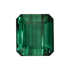 Green Tourmaline Ring Gem 7.38 Carat Emerald Cut Loose Unset Gemstone