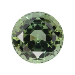 Green Tourmaline Ring Gem 9.78 Carat Round Loose Gemstone