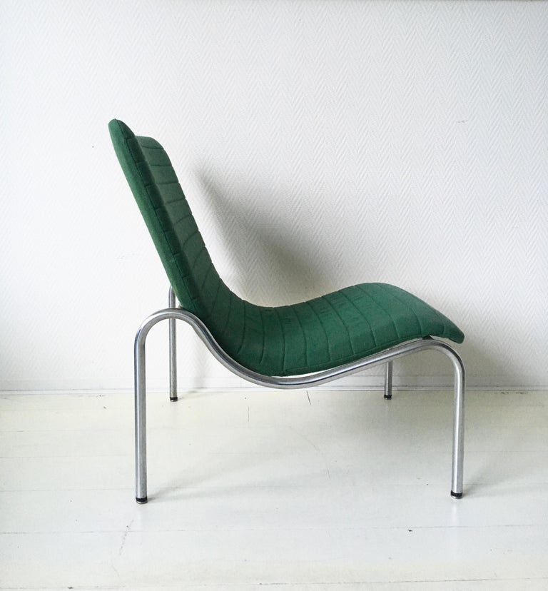 Green Tubular Lounge Chair by Kho Liang Ie for Stabin Holland, Model 703, 1968 In Good Condition For Sale In Schagen, NL