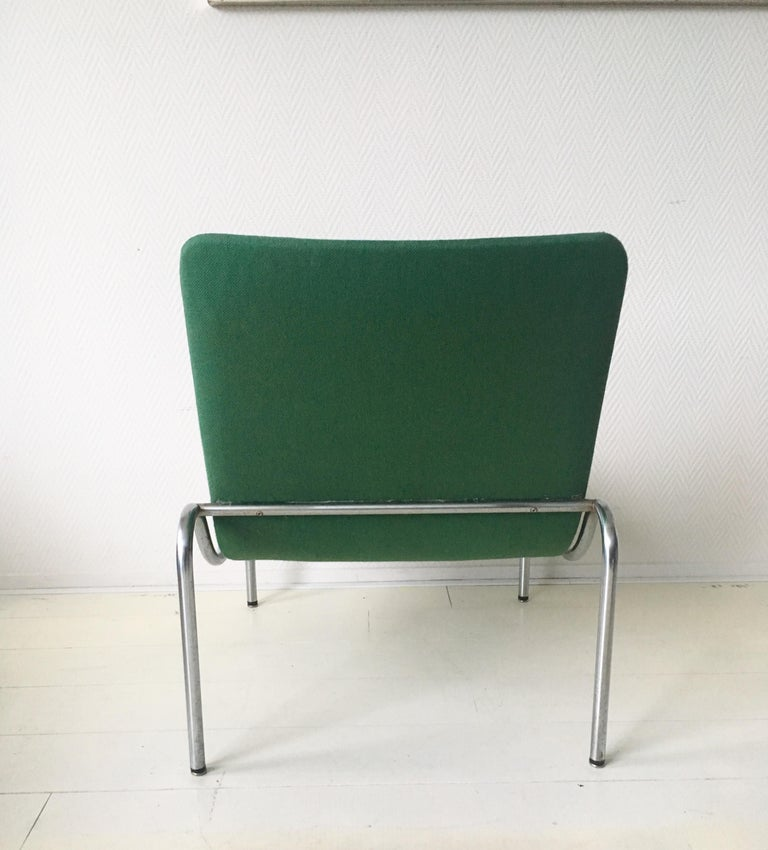 20th Century Green Tubular Lounge Chair by Kho Liang Ie for Stabin Holland, Model 703, 1968 For Sale