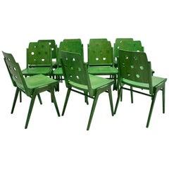 Green Twelve Vintage Mid-Century Modern Dining Chair Austro Chair Franz Schuster