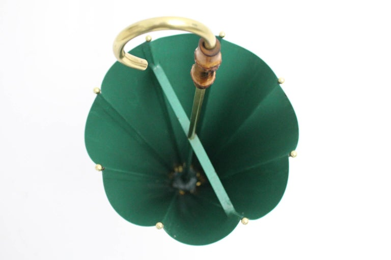 20th Century Green Mid Century Modern Vintage Umbrella Stand, 1950s, Italy For Sale