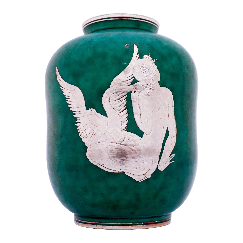 Green Vase, Argenta, Wilhelm Kåge Gustavsberg, 1930s