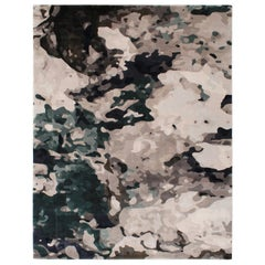Green Velvet Rug in Silk from Fortuny Collection by Cristina Jorge de Carvalho