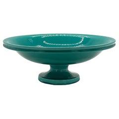 Green Vietri Ceramic Centerpiece or Fruit Bowl, Italy 1970s