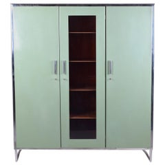 Green Vintage Bauhaus Wardrobe Cupboard manufactured by Mücke-Melder, 1930-1939