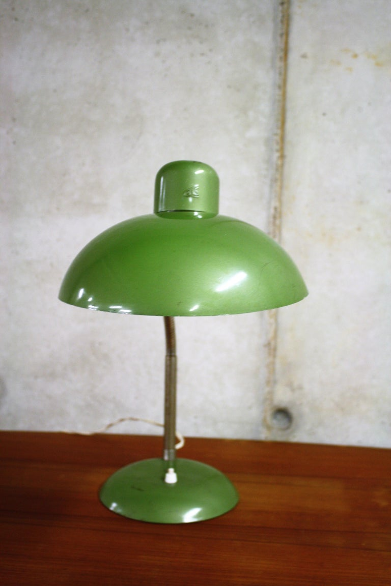 Green Vintage Industrial Bauhaus Desk Lamp By Sis Germany