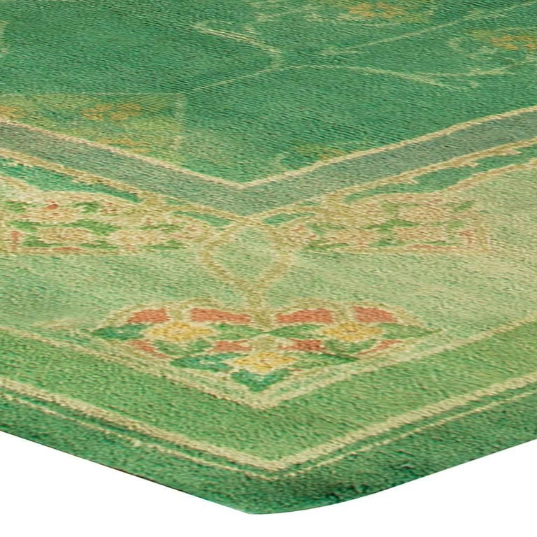 Green Vintage Irish Donegal Rug For Sale At 1stdibs