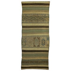 Green Vintage Moroccan, Kilim Rug