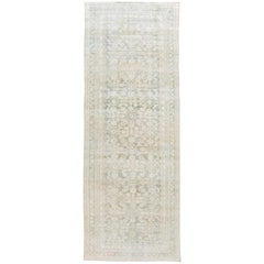 Green Vintage Persian Malayer Wool Runner