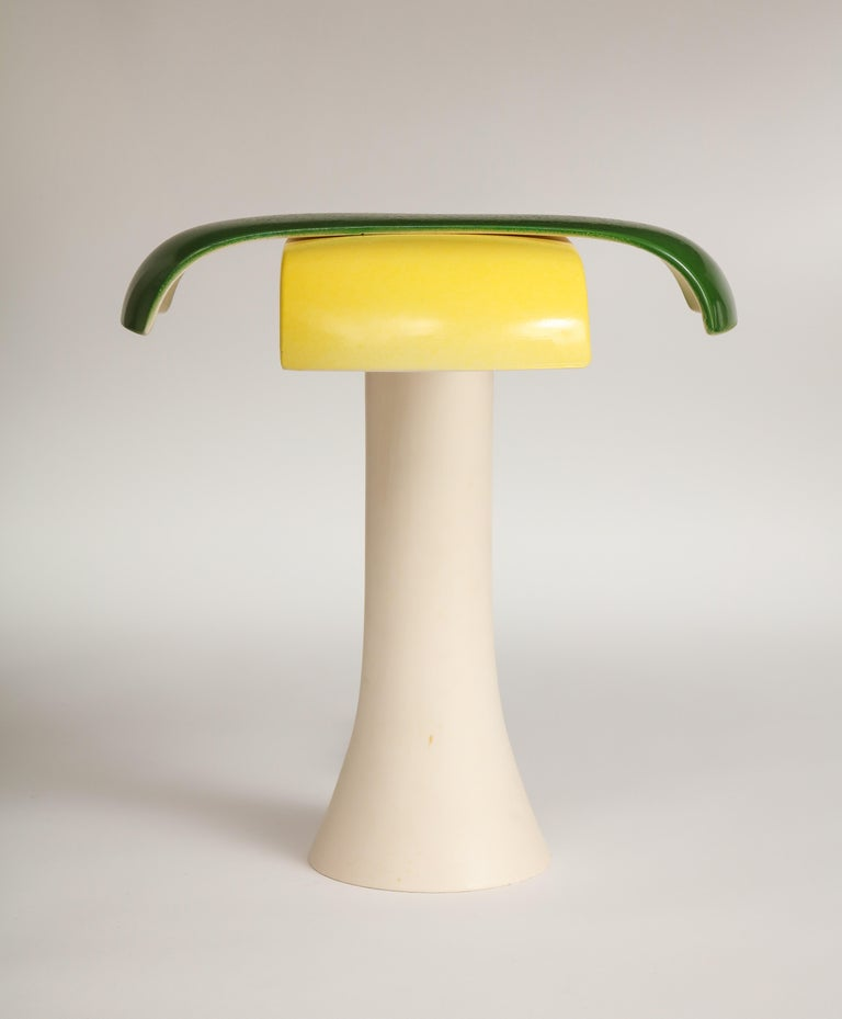 Belgian Green and Yellow Desk Lamp by Jos Devriendt For Sale