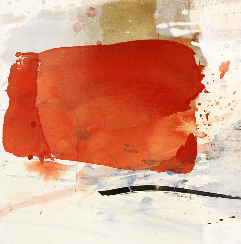 Open Spaces - Abstract Mixed Media Painting (framed) For Sale 2