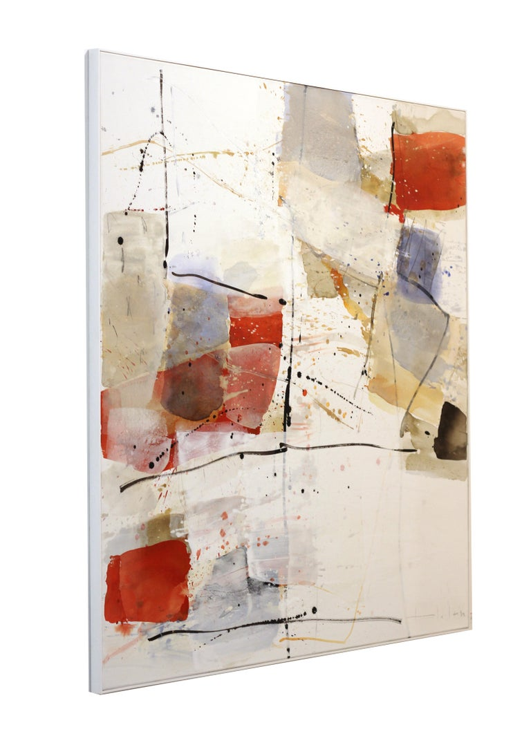 Open Spaces - Abstract Mixed Media Painting (framed) For Sale 3