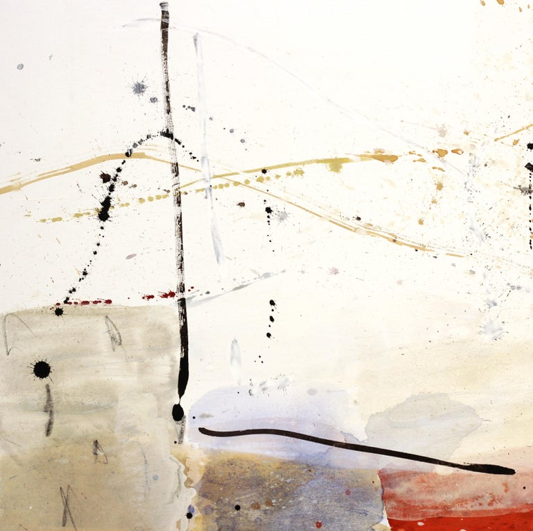 Open Spaces - Abstract Mixed Media Painting (framed) For Sale 7