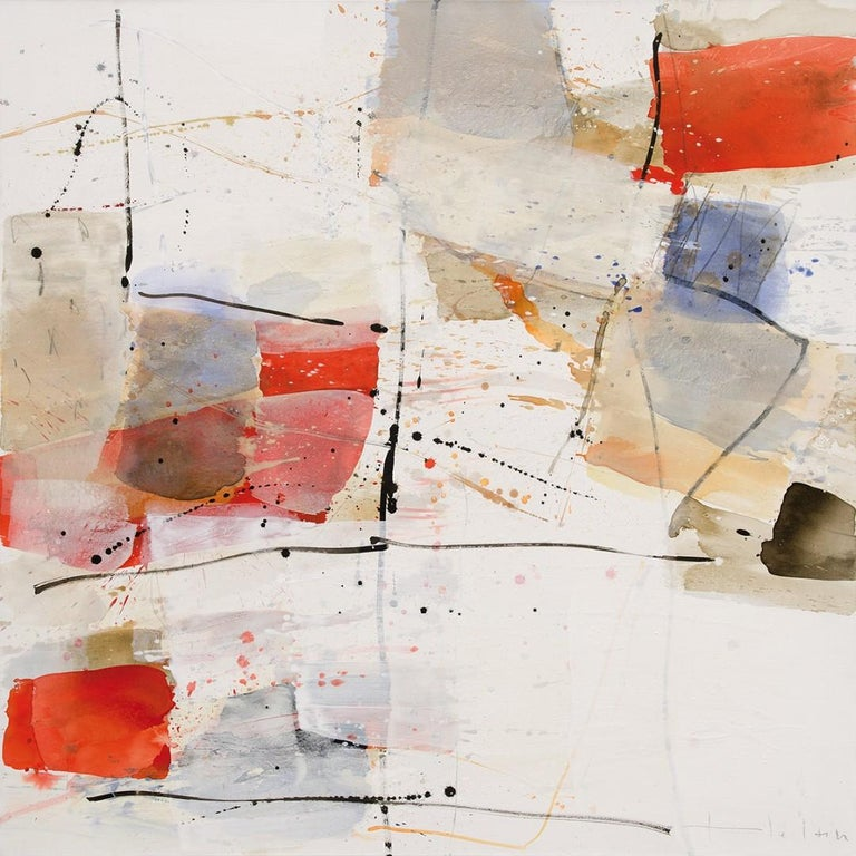 Open Spaces - Abstract Mixed Media Painting (framed) - Mixed Media Art by Greet Helsen