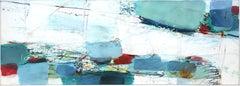 Sea Bank - Abstract Mixed Media Painting (framed)
