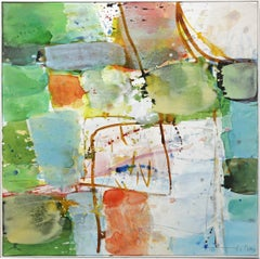 View - Abstract Mixed Media Painting (framed)