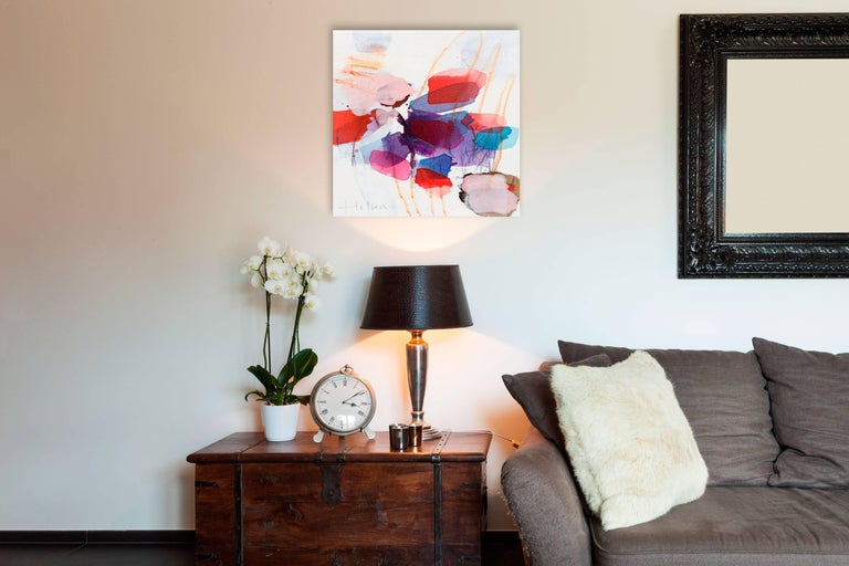 Color spots II - Painting by Greet Helsen