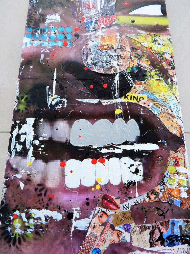 All Work No Play, Mixed Media on Wood Panel - Pop Art Mixed Media Art by Greg Beebe