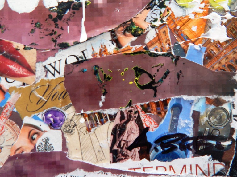 All Work No Play, Mixed Media on Wood Panel For Sale 2