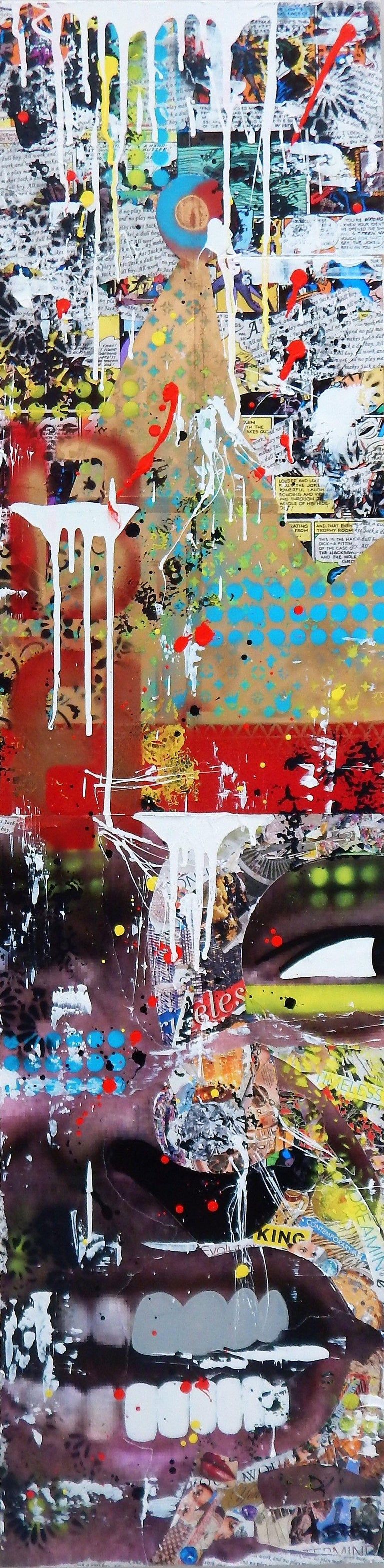 All Work No Play, Mixed Media on Wood Panel - Mixed Media Art by Greg Beebe