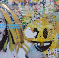 Happy Days, Mixed Media on Wood Panel