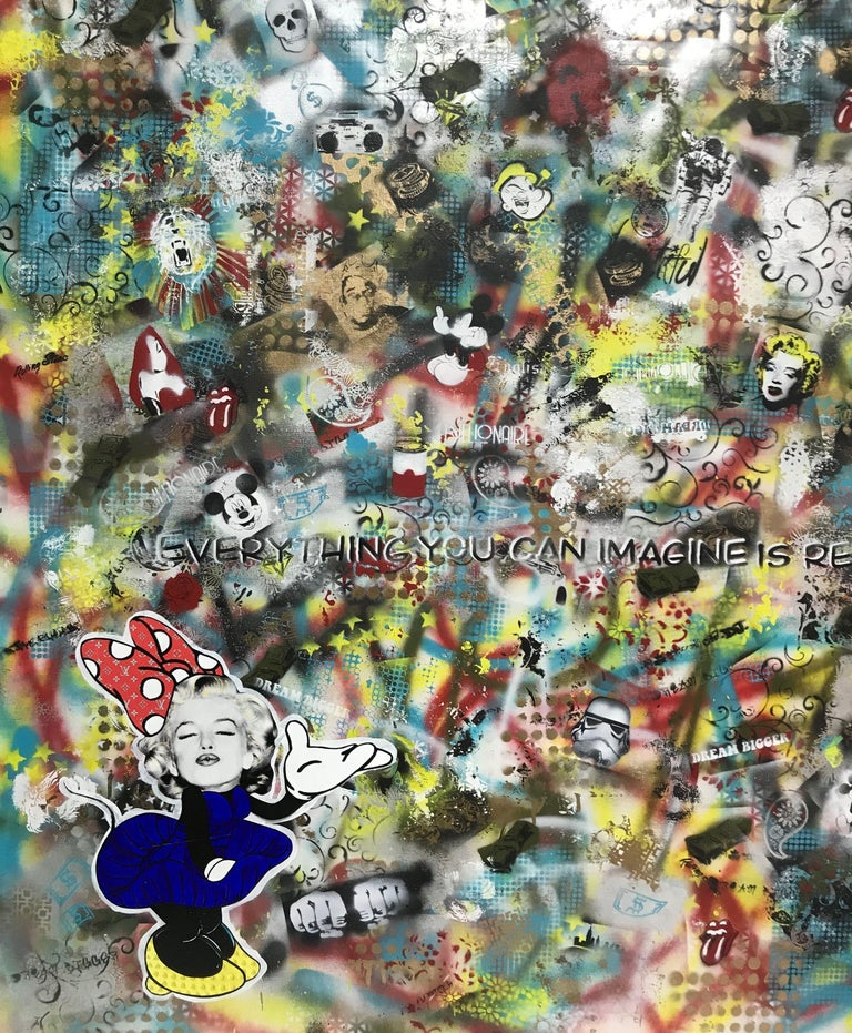 Imagine, Mixed Media on Canvas For Sale 1