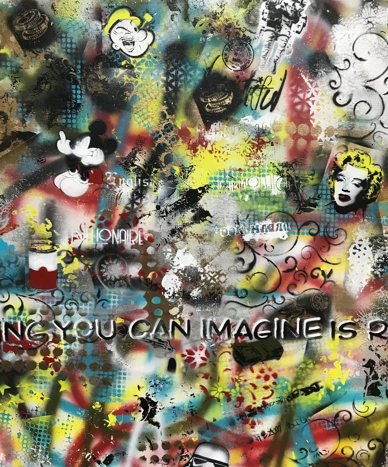 Imagine, Mixed Media on Canvas For Sale 2