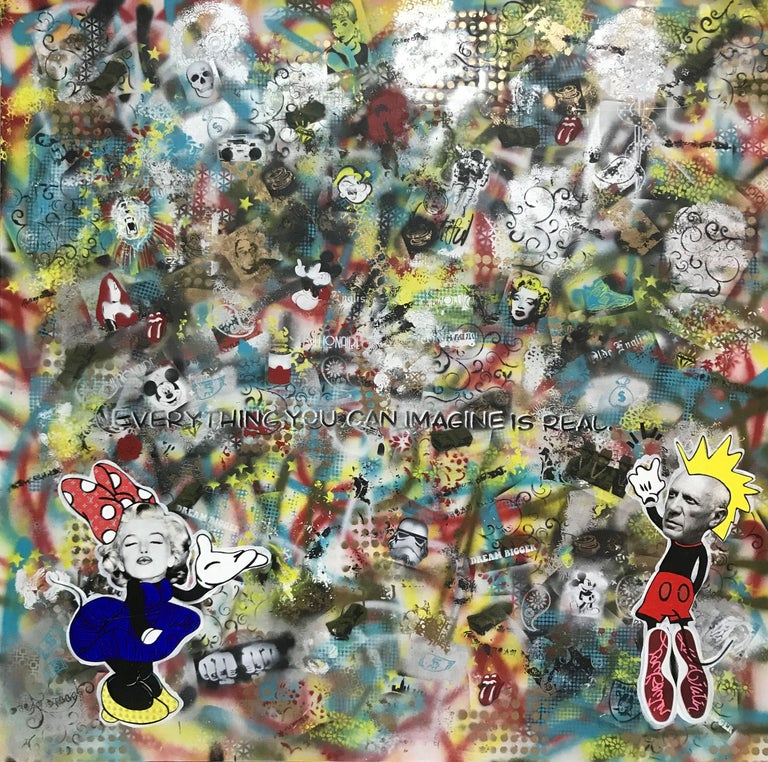 Imagine, Mixed Media on Canvas - Mixed Media Art by Greg Beebe