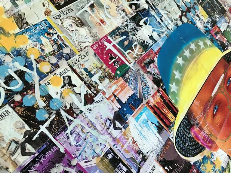 Just Loathing, Mixed Media on Wood Panel - Pop Art Mixed Media Art by Greg Beebe