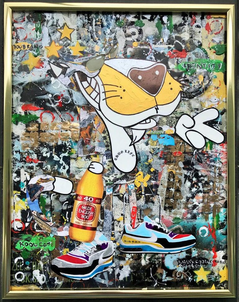 Kool Kat - Wynwood Series, Mixed Media on Other - Pop Art Mixed Media Art by Greg Beebe