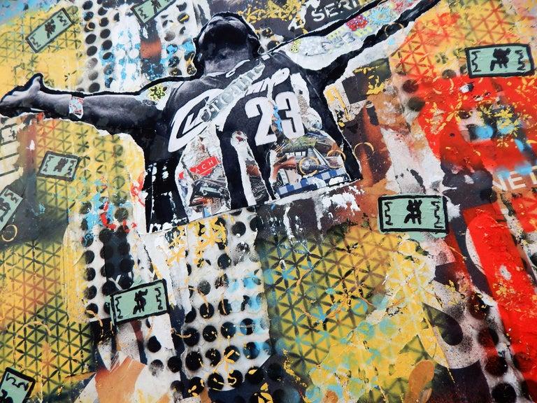 Make It Rain, Mixed Media on Wood Panel - Pop Art Mixed Media Art by Greg Beebe
