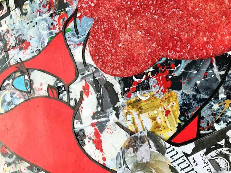 New Beauty - Wynwood Series, Mixed Media on Other - Pop Art Mixed Media Art by Greg Beebe