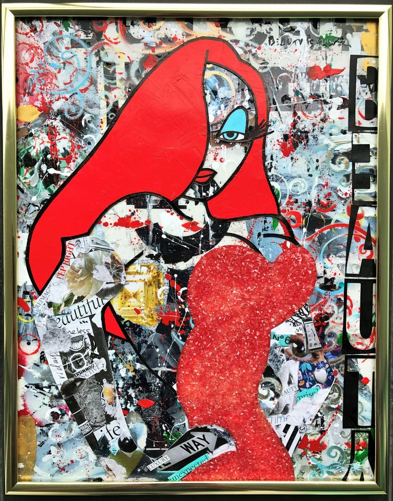 New Beauty - Wynwood Series, Mixed Media on Other For Sale 2