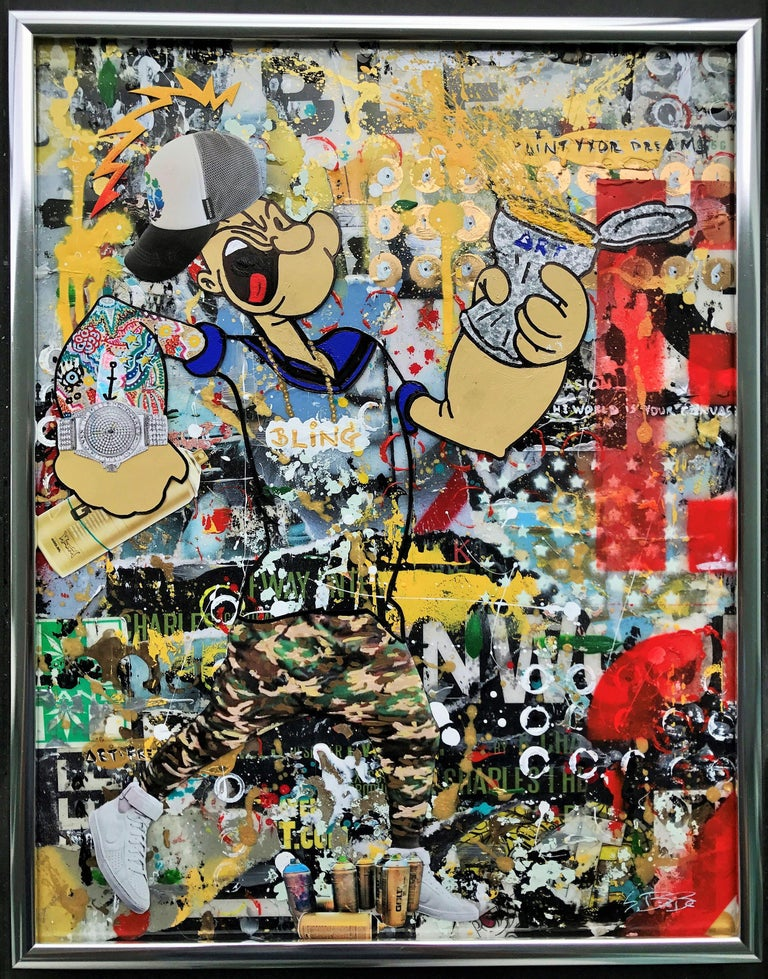 Paint the Wallz - Wynwood Series, Mixed Media on Other For Sale 2