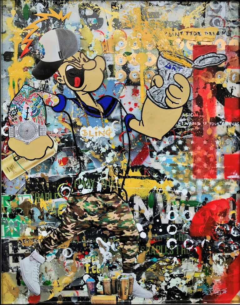 Paint the Wallz - Wynwood Series, Mixed Media on Other - Mixed Media Art by Greg Beebe