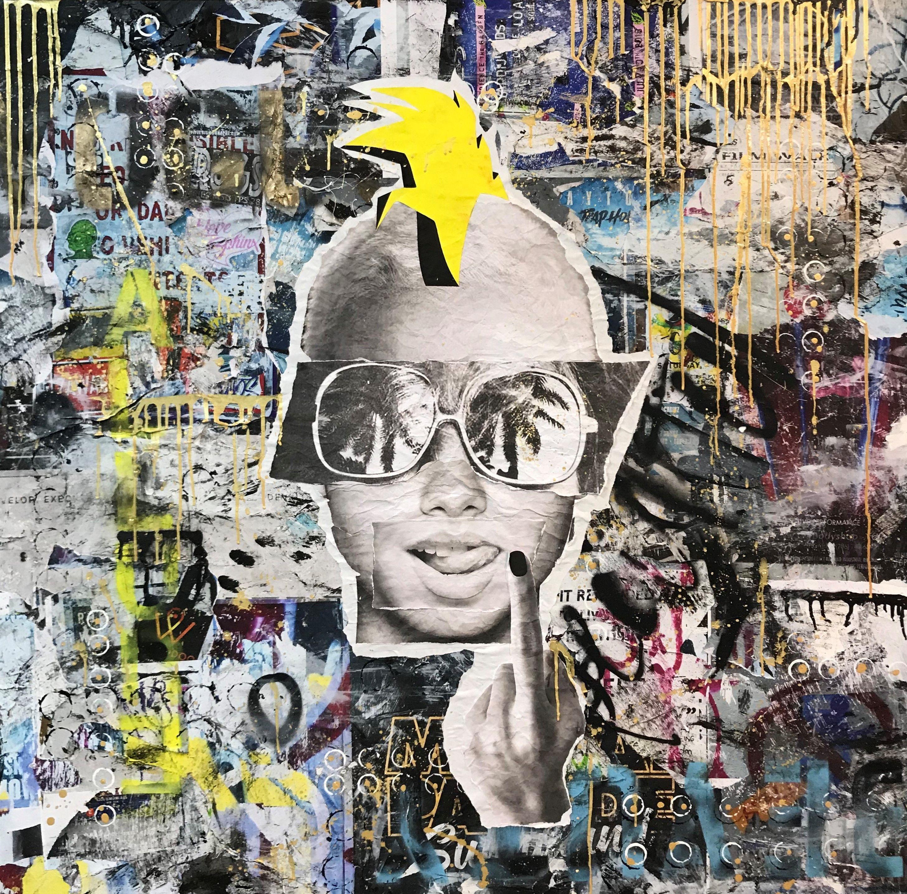 Punk, Mixed Media on Canvas