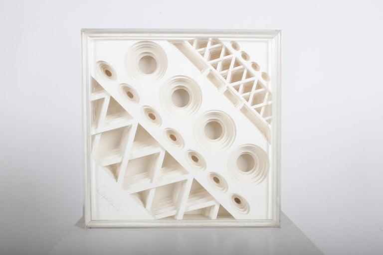 Mid-Century Modern Greg Copeland 1970s 3-D Geometric Op Art For Sale