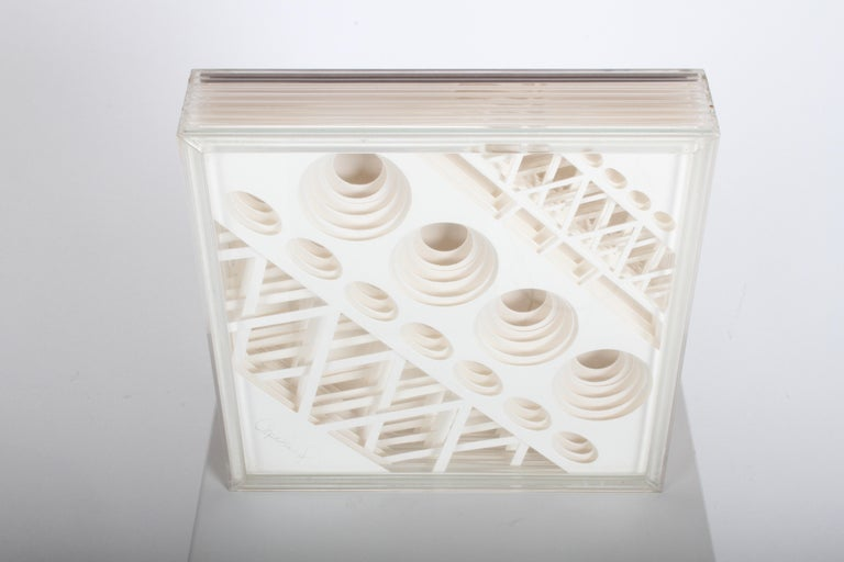 American Greg Copeland 1970s 3-D Geometric Op Art For Sale