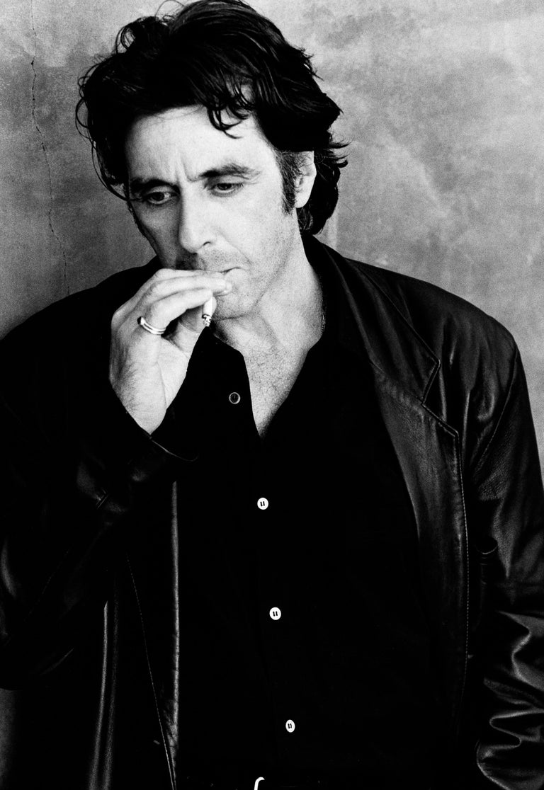 Greg Gorman Black and White Photograph - Al Pacino Smoking, 21st Century, Contemporary, Celebrity, Photography