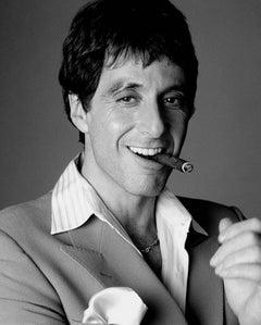 Al Pacino smoking LA, Contemporary, Celebrity, Photography, Scarface, Portrait