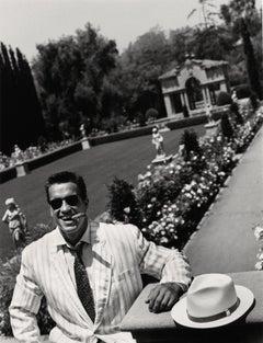 Arnold Schwarzenegger in the garden, Contemporary, Celebrity, Photography